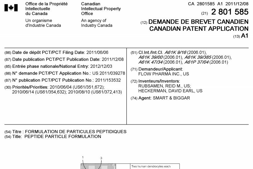Flow Pharma patent